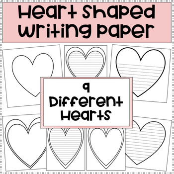 Heart Shaped Writing Paper (Blank and Lined)