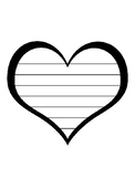 Heart Writing Paper Heart Template With Lines Heart Paper Heart Valentine's Day