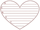 Heart Writing Template Two