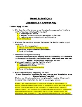Heart and Soul Chapter 3 & 4 Quiz READY GEN 5TH Grade