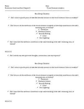 Heart and Soul Chapter Two Visual Elements Standard Tiered Worksheets