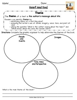 Heart and Soul Graphic Organizers Lesson 11 Readygen 5th grade  Differentiated