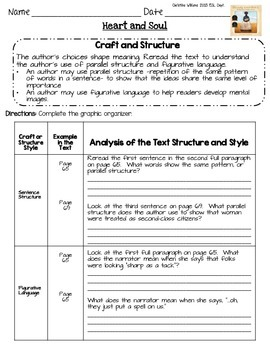 Heart and Soul Graphic Organizers Lesson 8 Readygen 5th gr