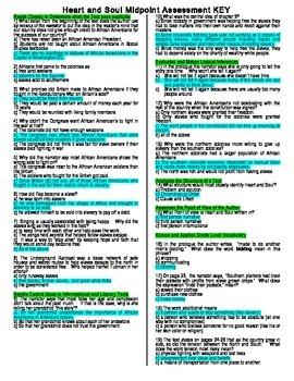 Heart and Soul Midpoint Assessment (READYGEN Unit 2 Module B)