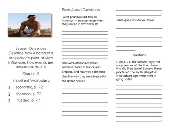 Heart and Soul Tri-fold Questions- Lesson 9