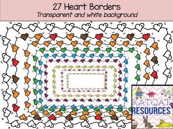 Heart borders