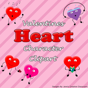 Heart character clipart - Personal and Commerical use