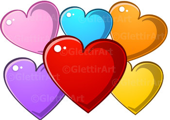 Heart clip art, Love clipart for personal and commercial use