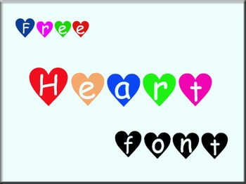 Heart font (free for personal use)