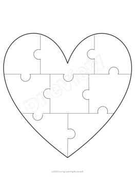 Heart jigsaw puzzle template by Loving Learning by Laura B ...