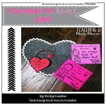 Heart love notes freebie