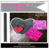 Heart love notes freebie