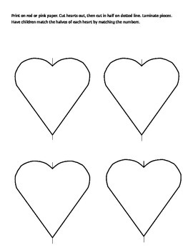 Heart number matching activity