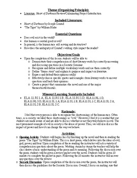Heart of Darkness - Closing Lesson Plan