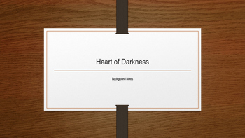 Heart of Darkness Power point