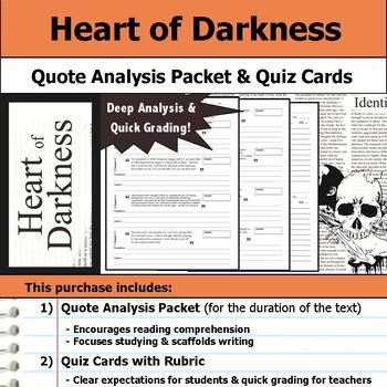 Heart of Darkness - Quote Analysis & Reading Quizzes