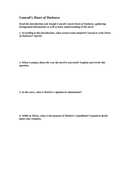 Heart of Darkness by Joseph Conrad: 2-page Study Guide