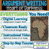 Heart of Darkness by Joseph Conrad  Text Evidence Analysis Argumentative Writing