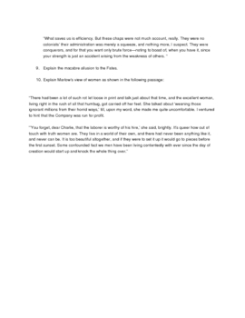 Heart of Darkness short answer quiz pages 1-25
