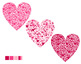 Heart of Hearts Clip Art Pink