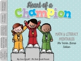 Winter Olympics 2018 Math & Literacy Printables ~ Heart of a Champion
