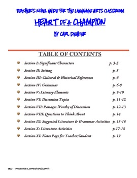 Heart of a Champion by Carl Deuker: Skill Activities, Prompts, Charts