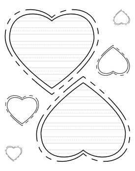 heart shaped writing paper Printable write on shapes each piece of clip art is designed to print as lined shapes for use in a variety of writing projects.