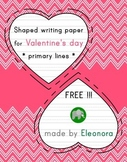 Heart-shaped writing paper for Valentine's day - primary lines - FREE!!