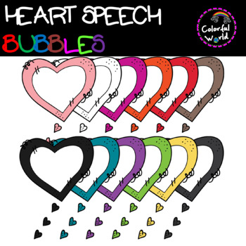 Heart speech bubbles
