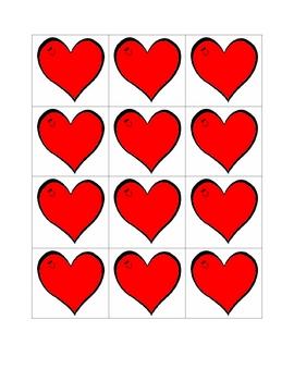 Heart themed letter cards
