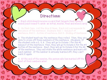 Heart to Heart: Articulation Sentences Pack (R,S,L,SH,CH,TH)