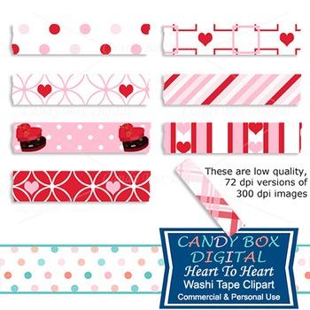 Heart to Heart Digital Washi Tape
