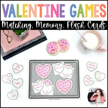 Heart to Heart Music Match: Valentine's Day Cookie & Music Symbol Matching Game