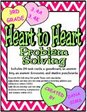 Heart to Heart Problem Solving: 3rd Grade Texas Math 3.4A 3.4K STAAR Practice