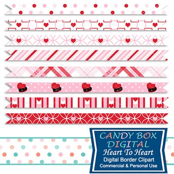 Heart to Heart Valentine Borders