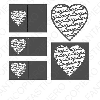 Heart with Love SVG files for Silhouette Cameo and Cricut.
