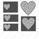 Heart with hearts SVG files for Silhouette Cameo and Cricut.
