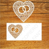 Heart with wedding rings SVG files for Silhouette Cameo an
