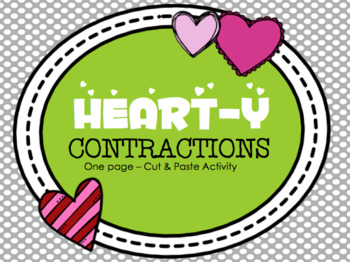 Heart-y Contractions: one page cut & paste activity