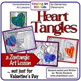 Art Lesson Valentine's Day Zentangle Drawing Heart Tangles