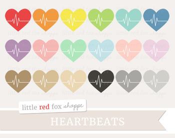 Heartbeat Clipart; Basic Shape, Fitness