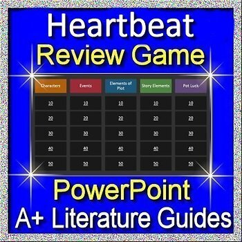 Heartbeat Review Game 7th grade HMH Collections Textbook Jeopardy Style