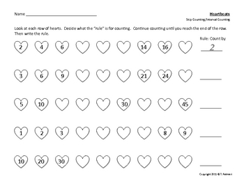 Heartbeats - Primary Skip Counting/Interval Counting