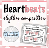 Heartbeats Rhythm Composition: quarter note, eighth notes, quarter rest