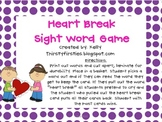 Heartbreak sight word game