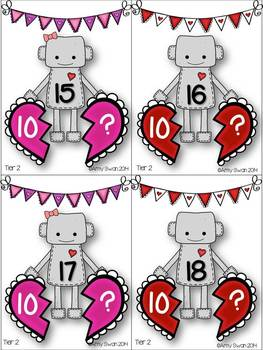 Heartbreaker Number Bonds - Decomposing Numbers DIFFERENTIATED Math Station CCSS