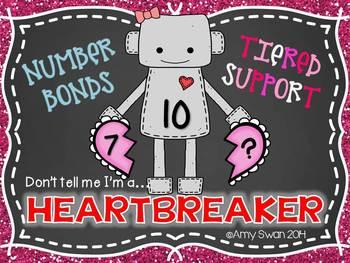 Heartbreaker Number Bonds - Decomposing Numbers DIFFERENTI