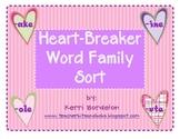 Heartbreaker Word Family Sort