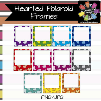 Hearted Polaroid Frames