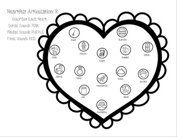 Heartfelt Articulation: A Valentine's No Prep Activity